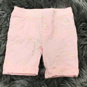Epic Threads Girl's Shorts: Light Pink Gold Specks